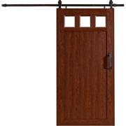"""Millbrooke 42""""w x 84""""h PVC Window Barn Door Kit Cherry"""