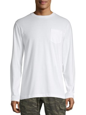 No Boundaries Men's and Big Men's Long-Sleeve Solid Tee