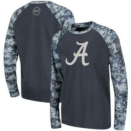 Alabama Crimson Tide Colosseum Youth OHT Military Appreciation Digi Camo Raglan Long Sleeve T-Shirt - Charcoal thumbnail