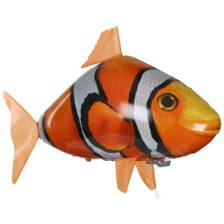 Remote Control Fish (Remote Control Flying Clown fish Fish RC Toy Inflatable Balloon Kids Best Gift (remote not)