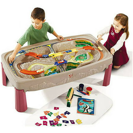 Deluxe Wooden Train Set - Step2 Deluxe Canyon Road Train & Track Table with Train Set