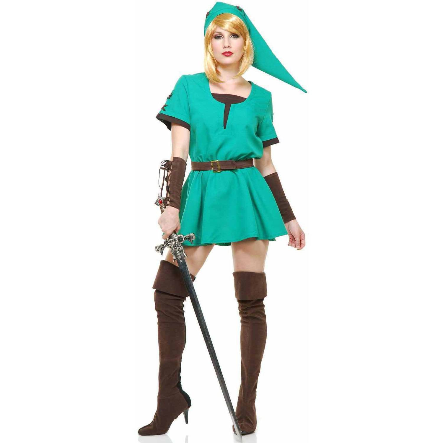 Elf Warrior Princess Dress Women's Adult Halloween Costume