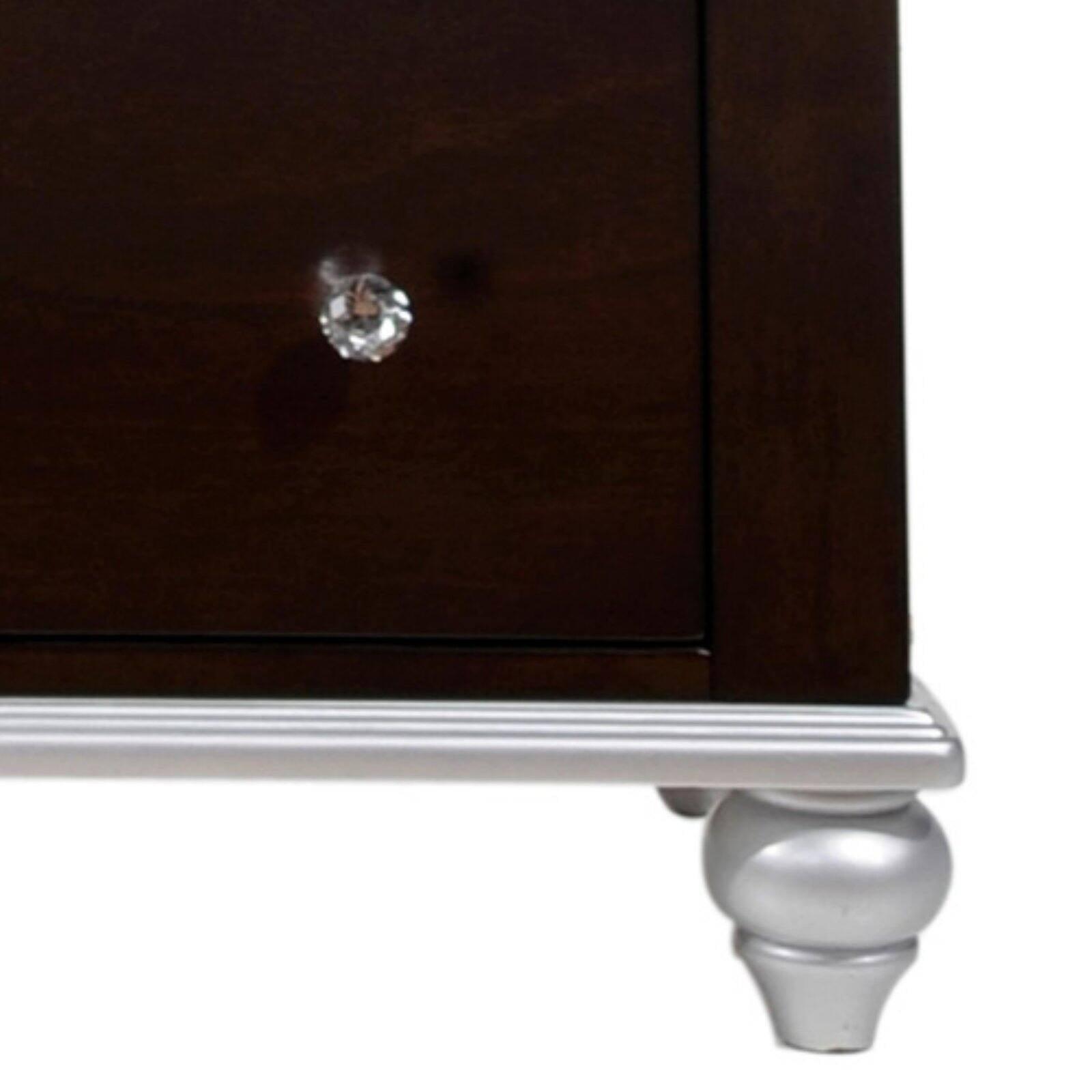 Picket House Furnishings Alli 3 Drawer Nightstand in Walnut