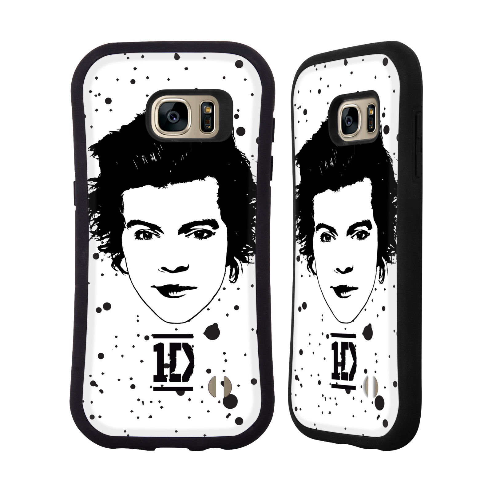 OFFICIAL ONE DIRECTION GRAPHIC FACE HARRY HYBRID CASE FOR SAMSUNG PHONES