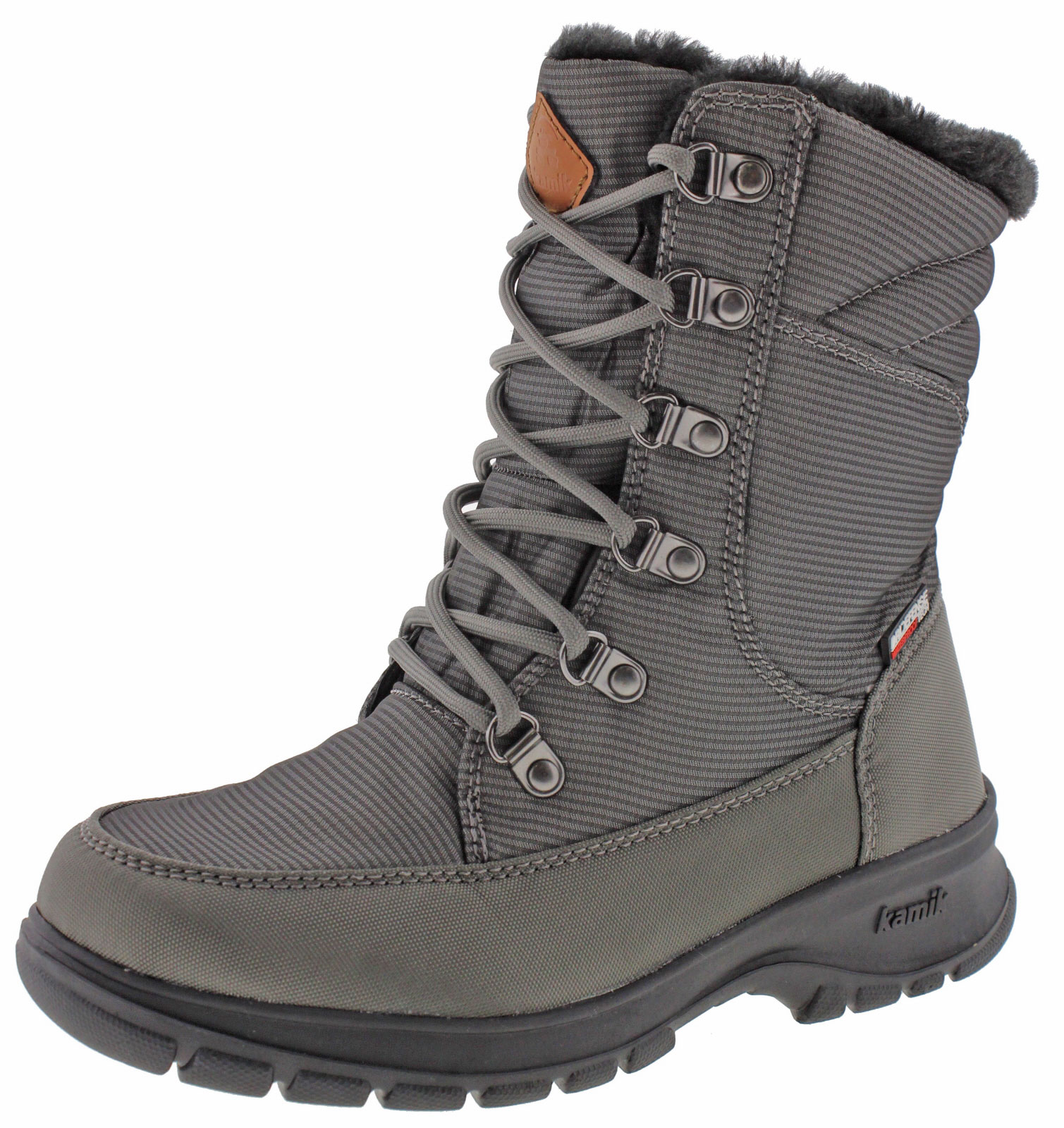 Kamik Bronx Women's Waterproof Nylon Snow Boots Fleece Lined by