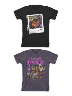 Five Nights at Freddy's Boys Character & Digital Game Over Graphic T-Shirt 2-Pack, Sizes 4-18