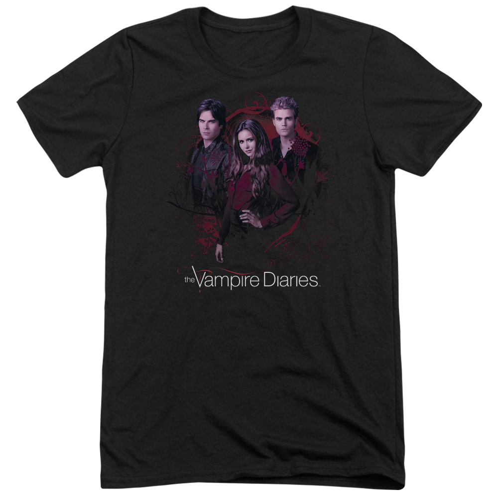 Vampire Diaries Company Of Three Mens Tri-Blend Short Sleeve Shirt