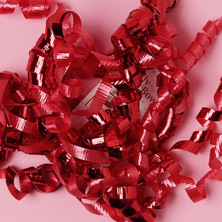 Red Decorative 5 inch Crimped Curly Ribbon Gift Bows, 24 pack - Curly Ribbon