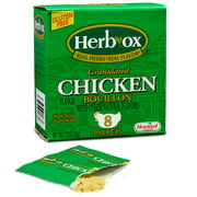 (4 Pack) Herb-Ox Instant Broth & Seasoning Granulated Chicken Bouillon Packets, 1.1 Ounce