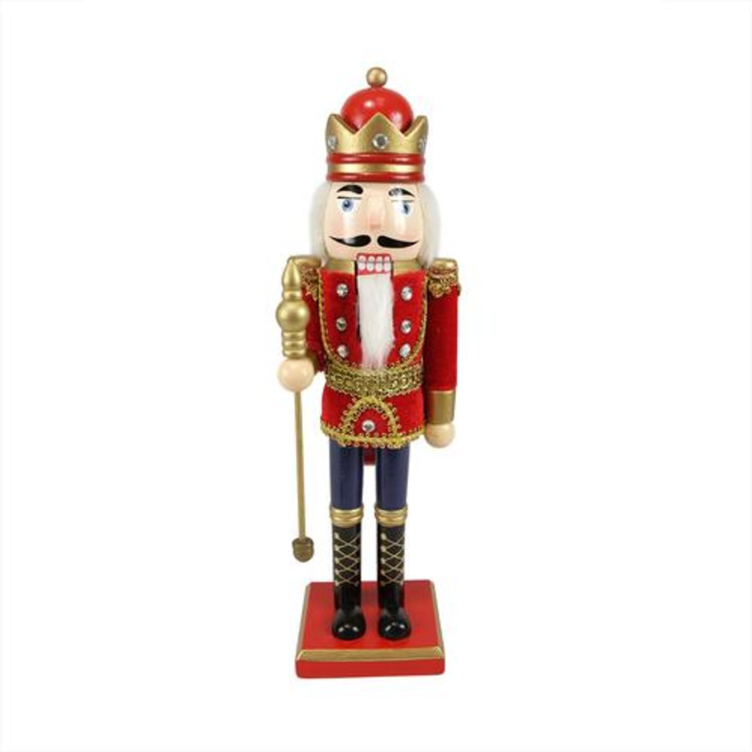 """14"""" Decorative Wooden Red, Blue and Gold Christmas ..."""