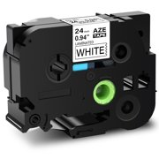 """GREENCYCLE 1PK Black on White Laminated Label Tape Compatible for Brother TZe-251 TZ 251 TZe251 TZe 251 P-Touch (1"""" 26.2ft) work with PT330 PT350 PT520 PT540 PT1400 PT1500pc PT1600 PT2200 Label Maker"""