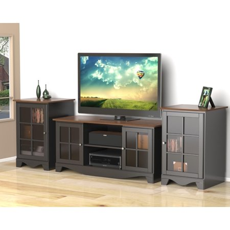 Pinnacle 54-inch TV Stand with Two Pinnacle 1-Door Audio Towers