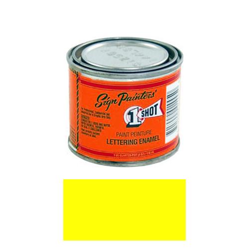 1/4 Pint 1 Shot FLOURESCENT CHARTREUSE Paint Lettering Enamel for Pinstriping