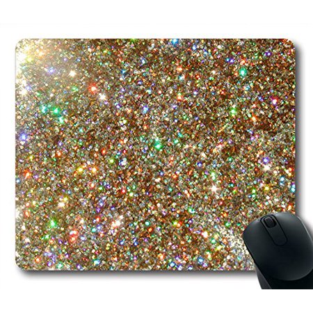 POPCreation Girl Glitter Mouse pads Gaming Mouse Pad 9.84x7.87 inches - Girl Art Mouse Pad