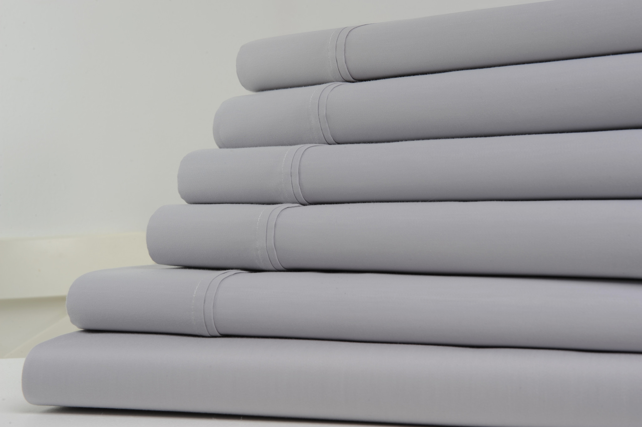 Kathy Ireland Home 1200 Thread Count Cotton Rich Bed Sheets 6 Piece Set   6  Colors   Full / Gray