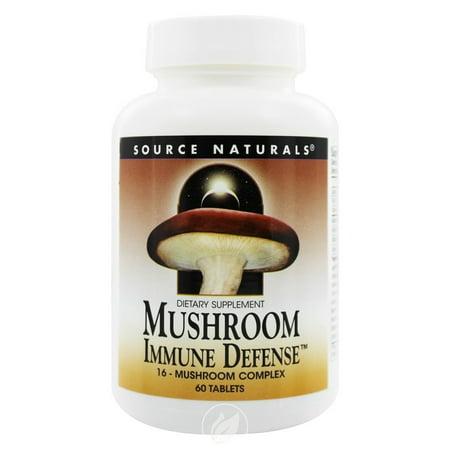 Source Naturals - Mushroom Immune Defense, 16-Mushroom Complex, 60 Tablets, Pack of 2