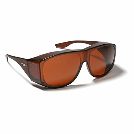 Blue Blocking Sun Shield Brown With Amber Lenses