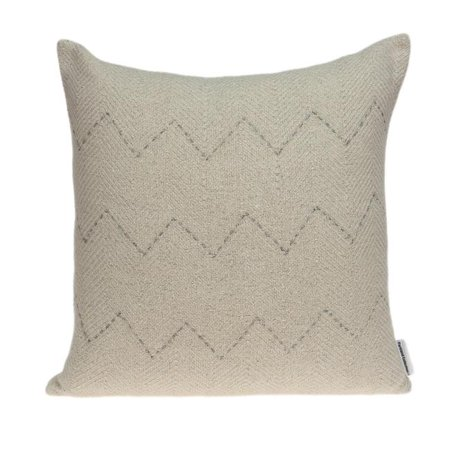 Parkland Collection PILD11154P Diana Beige, Silver & Grey Rectangle Transitional Pillow Cover with Poly Insert - 14 x 20 x 6 in. - image 1 of 1