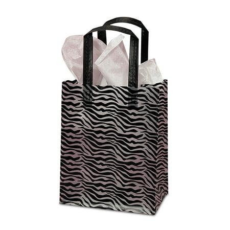 Hdpe Zebra Print Plastic Bags Quany 250 Width 16 By Paper