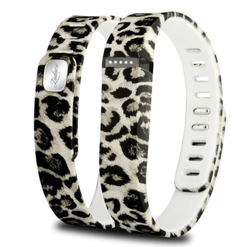 Zodaca Replacement Large Band for Fitbit Flex Wireless Activity Tracker Wristband Bracelet w/ Clasp Brown Leopard