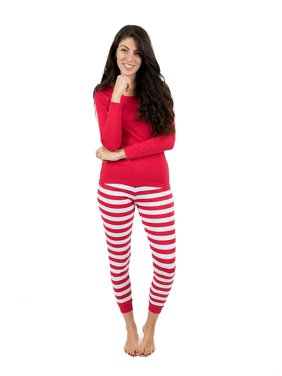 86a27bf42c Product Image Leveret Womens Pajamas Red Top Striped Pants 2 Piece Pajama  Set 100% Cotton Size Large