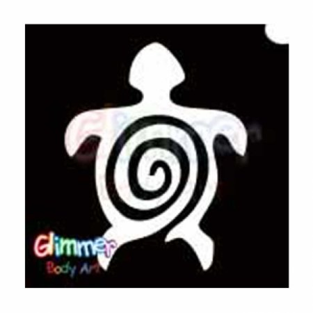 Glitter Tattoo Stencils - Turtle 2 (5/pack), Glimmer Body Arts Glitter Tattoo Stencils are non-latex, hypoallergenic and meet all cosmetic grade safety.., By Glimmer Body Art Ship from US - Small Turtle Tattoo