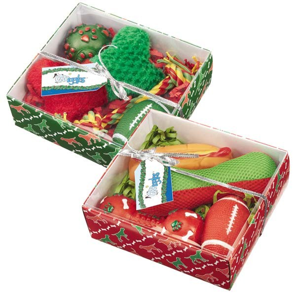 Grriggles Holiday Hound Dog Toy Gift Set 4 pk