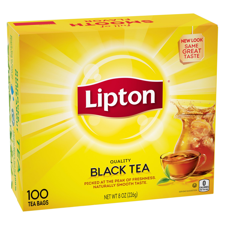 Lipton Black Tea, Tea Bags 8 oz 100