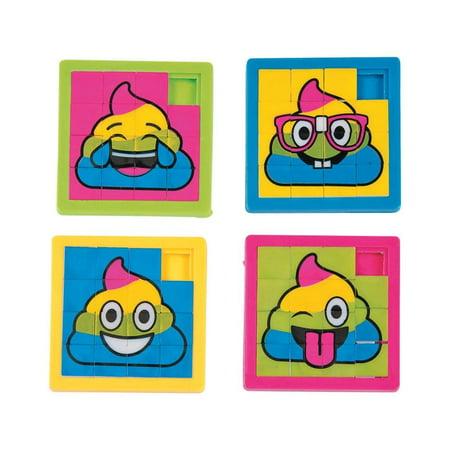 Rainbow Poop Emoji Slide Puzzles (Slide Puzzles)