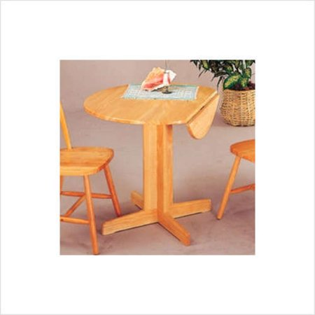Wildon Home Montrose 36 39 39 Round Dining Table With Drop Leaf In Natura