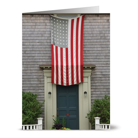 Glory Envelope (24 Note Cards - Old Glory - Blank Cards - Red Envelopes)