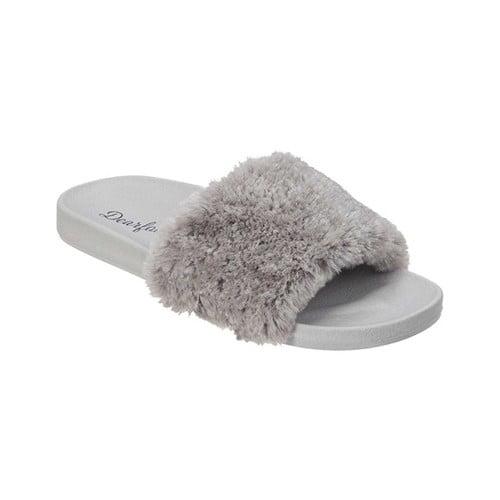 Dearfoams Molded Footbed Pile Slide(Women's) -Wintermint