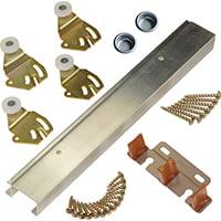 L.E. Johnson 2200602D Door Bypass Hardware Set 2-Door 60
