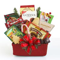 Hickory Farms Christmas Seasons Eatings Gift Basket, 10 pieces