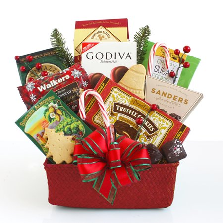 Hickory Farms Christmas Seasons Eatings Gift Basket, 10 pieces ()