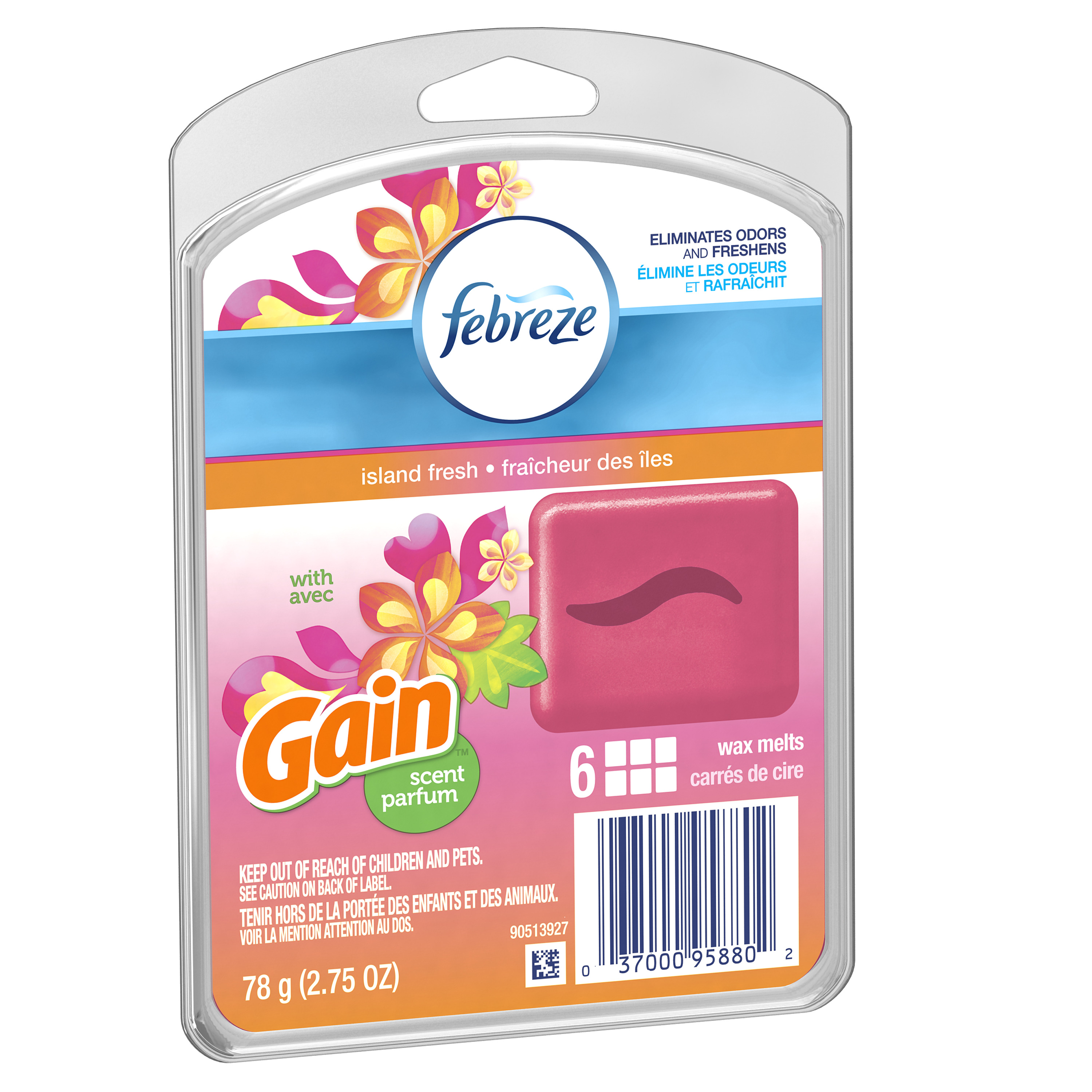 Febreze WAX MELTS Air Freshener with Gain Island Fresh (1 Count, 2.75 oz)