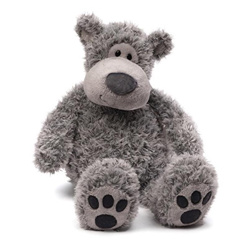 "GUND Slouchers Teddy Bear Stuffed Animal Plush, Gray, 20"" by GUND"