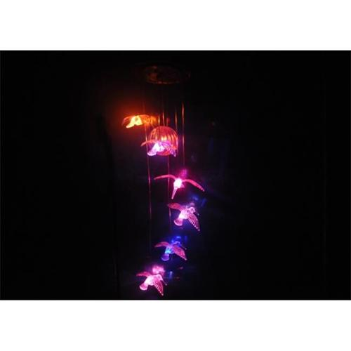 Set of 6 Hanging Hummingbirds with Color Changing LED Lights