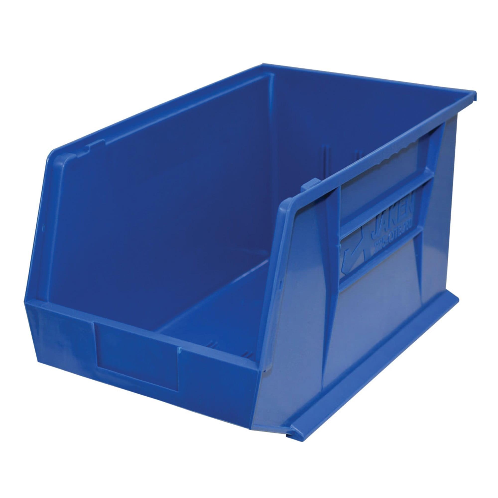 "Storage Max Case of Stackable Blue Bins, 18"" x 11"" x 10"" (4 bins)"