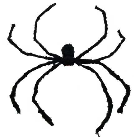 Halloween Hairy Spider Decoration, Black Color, 50 - Sinister Halloween Decorations