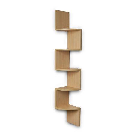 48.5u0022 x 7.7u0022 Zigzag Corner Shelf Maple - Danya B.