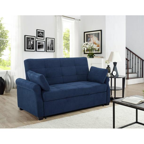 Serta Haiden Queen Sofa Bed, Navy Blue   Walmart.com ...
