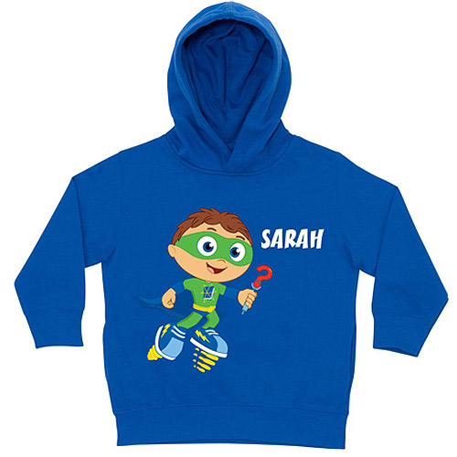 Personalized Super Why! Writer Blue Toddler Boy Hoodie