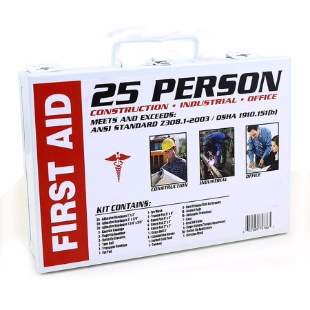 25PC First-Aid Kit Emergency Person Medical Bag Health Care ()