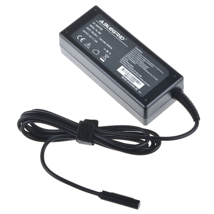 ABLEGRID 12V 3.6A 43W 5-Pin AC / DC Adapter For Surface Windows 8 Tablet Surface 2 Surface Pro Surface Pro 2 12VDC 3.6Amp 43Watts Power Supply Cord