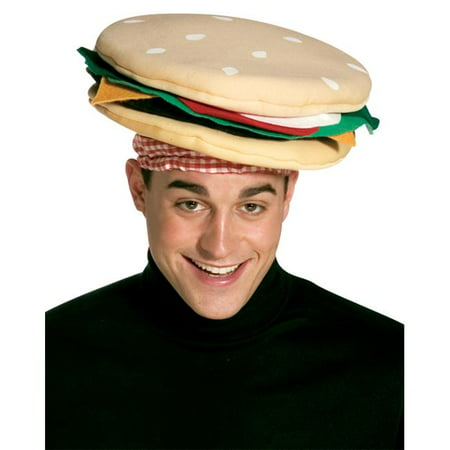 Cheeseburger Hat Adult Halloween Accessory](Cheese Burger Costume)
