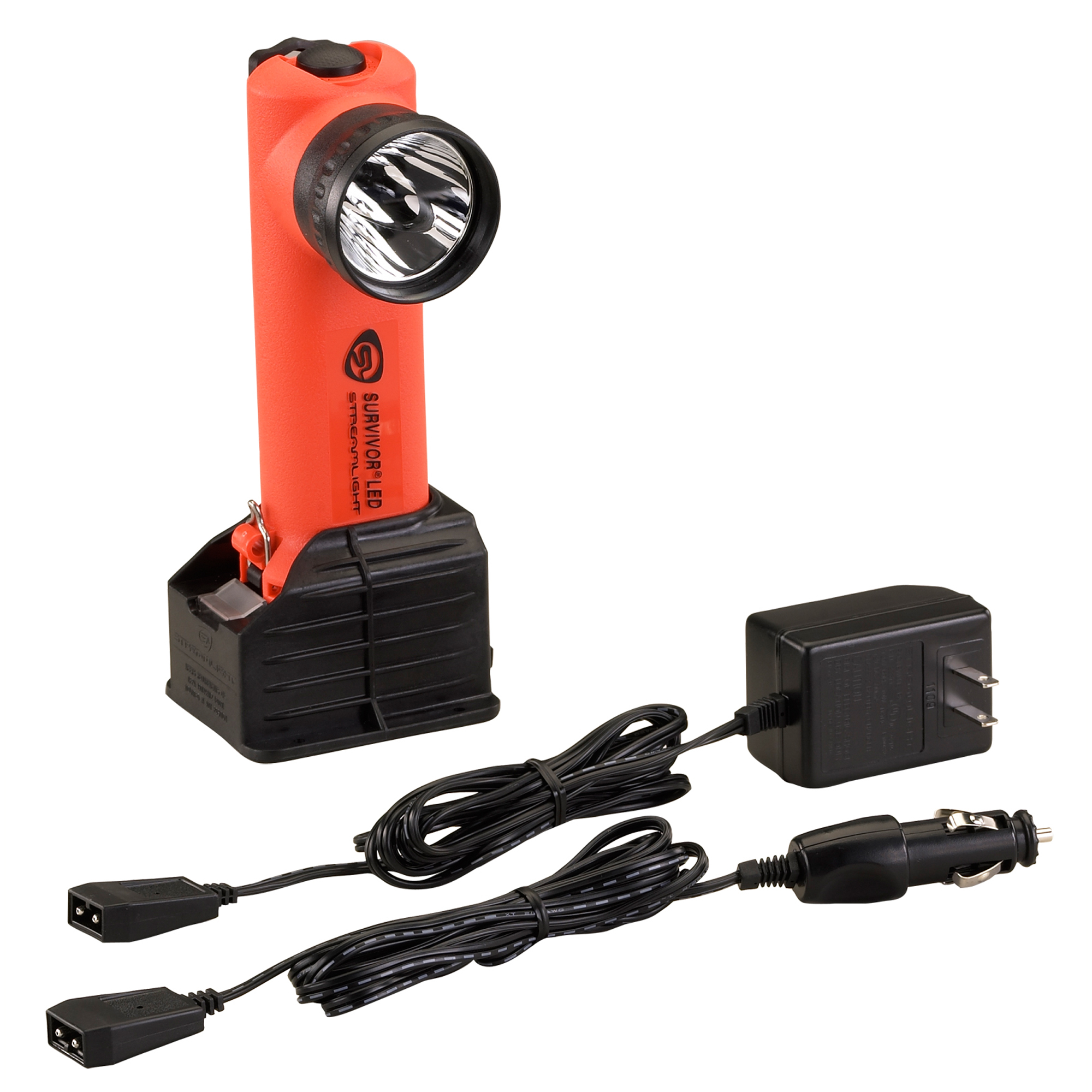 Streamlight Survivor LED Flashlight, (Orange, AC DC) by Streamlight