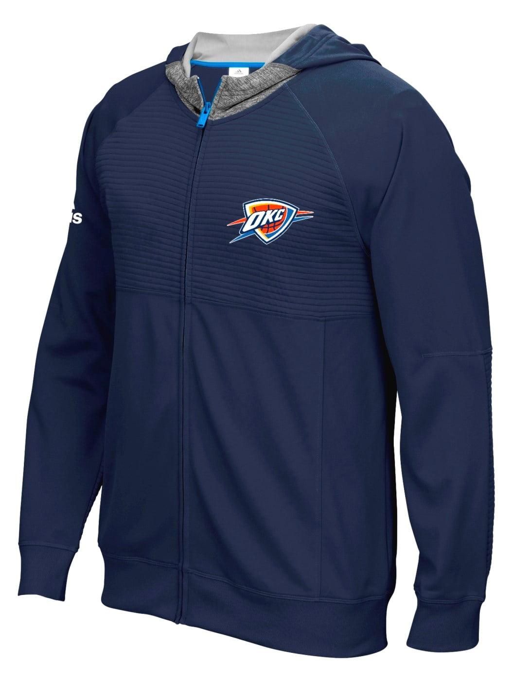 "Oklahoma City Thunder Adidas 2016 NBA On-Court ""Pre-Game"" Full Zip Hooded Jacket by Adidas"