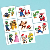 Super Mario Brothers Tattoo Favors [16 in package]