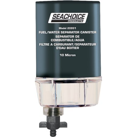 Seachoice 10 Micron Fuel Water Separating Filter With See